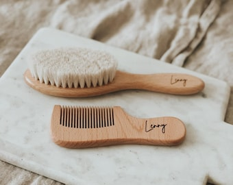Bridal White Hair Comb Wood Hair brush for women Wooden Comb Personalized Combs Decorative hairbrush Bridesmaid Proposal Gift