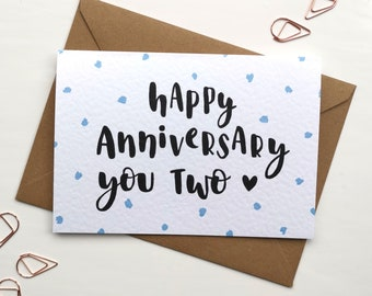 Wedding Anniversary Card | Happy Anniversary You Two | Anniversary Card for Couple | Love Card