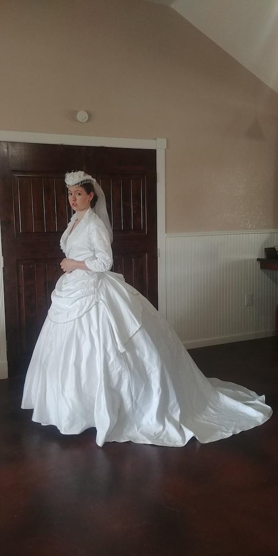 Victorian Ball Gown Wedding Ensemble