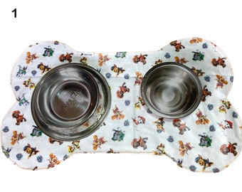 Set of placemats Two placemats Feeding mat Absorbent food mat Food placemat Water bottle mat to catch spills and puddles.