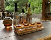 Floating Live Edge Whiskey Flight