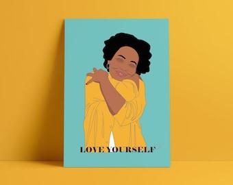 Love Yourself Poster Print - Wellness, Feminist, Self Love!