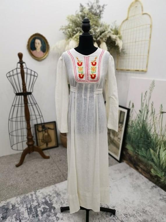 American Vintage Prairie White Cotton Boho Hippie