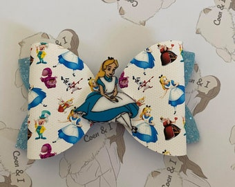 with metallic gold accents for the well-dressed GOLDEN ALICE--Spectacular Alice in Wonderland  handmade bow tie in Japanese cotton