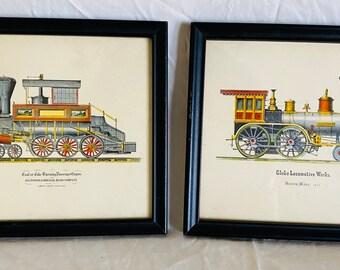Lyrics or Text Vintage Train Print Custom Birth Stat Steam Engine Print Quote Personalized Train Print Great Gift Poem