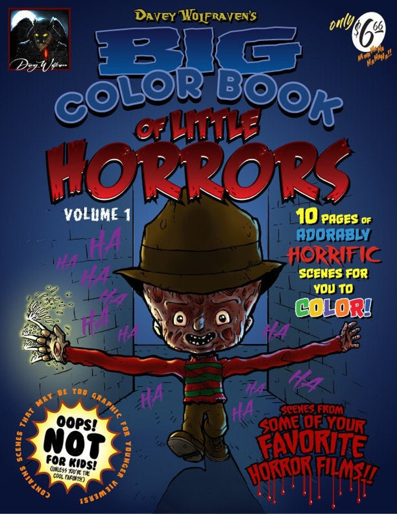 Davey Wolfraven's Big Color Book of Little Horrors Volume image 0