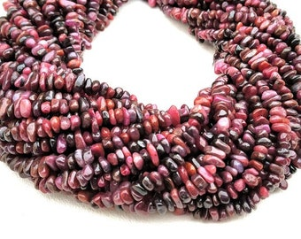 Natural Smooth 5 Piece Ruby Nugget Beads 14mm Plain Beads Nugget Shape Gemstone Beads