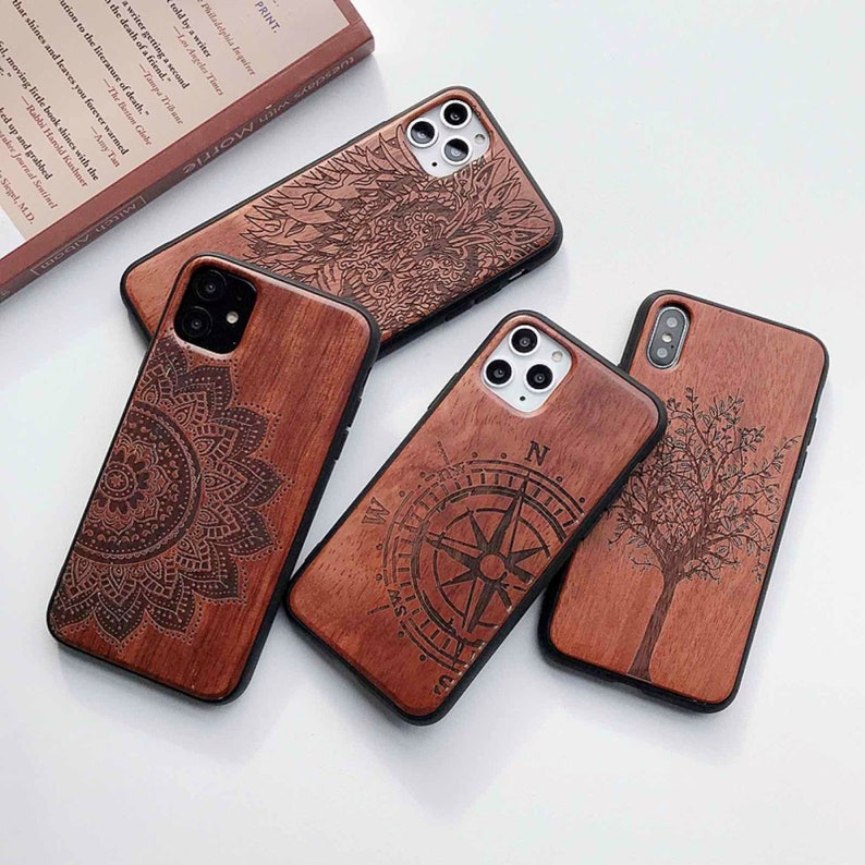 Gift TPU Cover Phone Shell Skin Phone Case for iPhone Case 11 Pro Max 12 Mini Pro Max Sugar Skull Natural Wood Free Gift