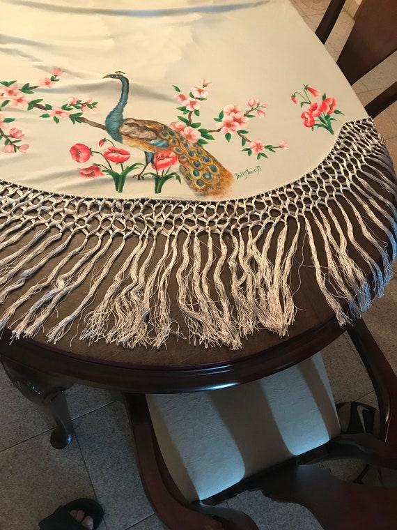 Hand painted Shawl