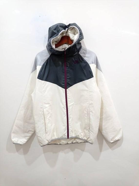 Vintage 90s Nike hoodie puffer jacket size L XL