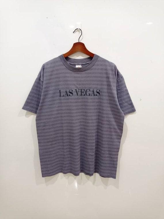 Vintage 90s Las Vegas stripes tee sun faded size X