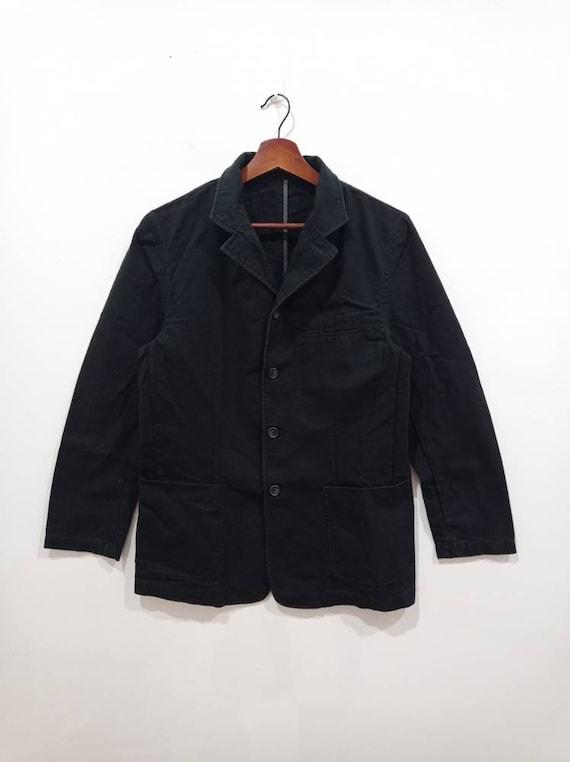 Vintage 90s Japanese chore workwear jacket denim b