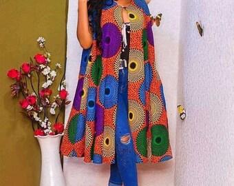 African kimono jacketAnkara jacketKimono jacketAfrican printAfrican attireAfrican women dress