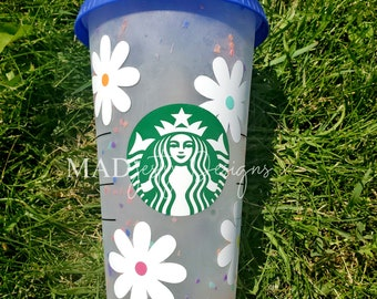 Starbucks Cold Cup | Confetti Colour changing personalized cup with name
