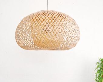 BAMBOO PENDANT LIGHT-Pendant light - pendant lamps-Bamboo Lampshade-Light pendant bamboo lampshade-wicker lamp- Lamp shade - Lighting-LT11