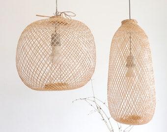 BAMBOO PENDANT LIGHT-Pendant light shade -Bamboo Lampshade-Lamp shade-wicker lamp-light lamp pendant lampshade-bamboo outdoor light-LT01