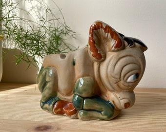 Vintage Mexican Marble Ashtray Vintage Souvenir Cactus and Burro Hand Carved Stone Ashtray Donkey and Cactus Stone Ashtray