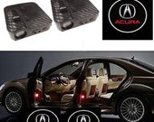 2Pcs Wireless Car Door Projector Welcome Ghost Shadow LED Light Carbon Fiber For Acura
