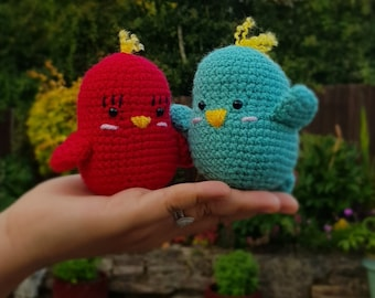 Ravelry: Fisher Love Bird pattern by Chiwaluv Amigurumi Critters | 270x340
