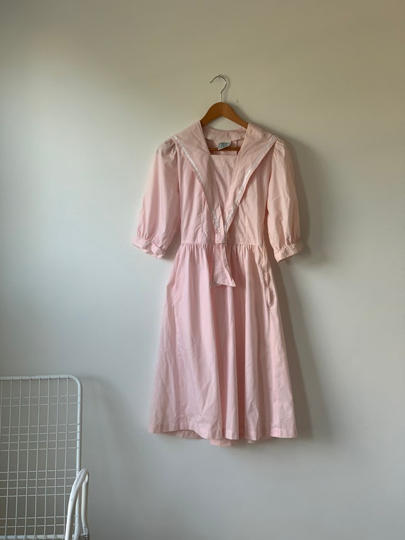 vintage laura ashley pink striped nautical style r