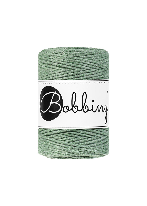 Bobbiny 10 m20 m100 m Macrame Yarn Premium Macrame Cord Single Twist Macrame Cord 1.5 mm eucalyptus green