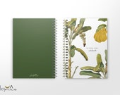 Tropical Banana Personalized Notebook, Journal, Tropical Notebook Cover, Diary, Custom Notebook,