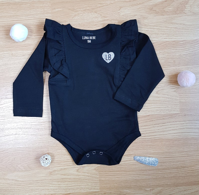 2 Piece Set for Baby Girl Baby Girl Clothes Baby Girl Gift Baby Girl Outfit Cheetah Baby Legging with Black Ruffle Long Sleeve Baby Top