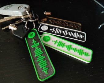 Demon Black Synthetic Leather Keychain with Laser Engraved Imprint