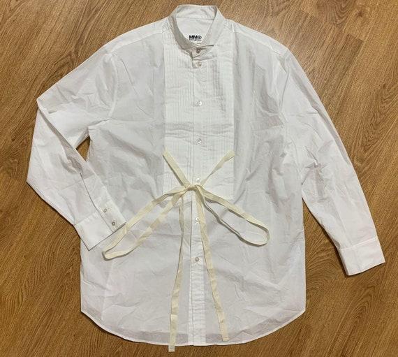 Maison Margiela MM6 Womens White Cottone Dress Shi