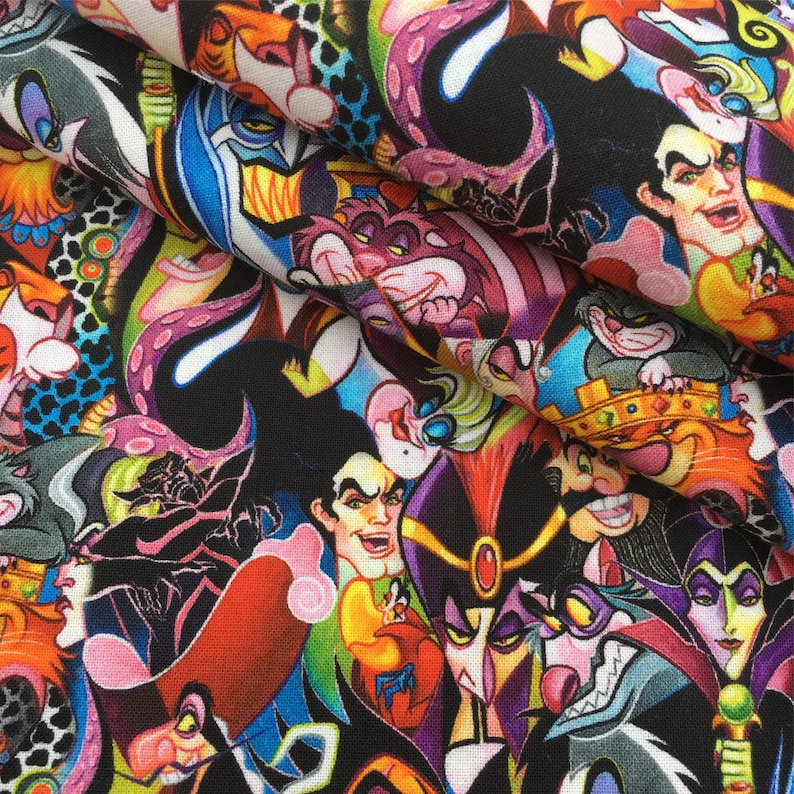 Cartoon Character Polyester100/% Cotton Quilting Cloths Crafts Fabric By the Yard