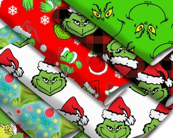 11x55 inch or 7.7x12.9 inch Green Cartoon Printed Faux Leather Sheets,DIY Earring/Hair Bow Crafts Leather