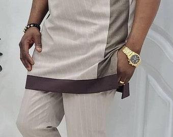 African Wear | Men Clothing| Kaftan African Men Shirt and Down Black | Dashiki Mens Shirt| Family African Wear | African Men's Clothing| DHL
