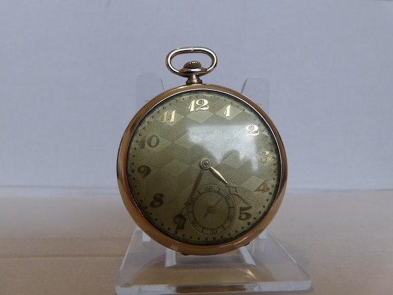 Tempo Gents Rolled Gold pocket watch