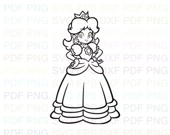 Paper Princess Daisy Coloring Pages - Super Paper Mario Daisy ... | 270x340