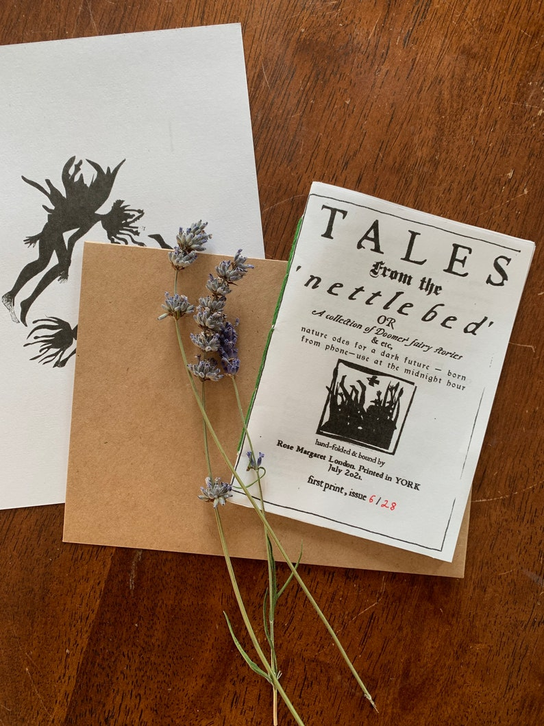 Tales from the Nettle Bed  hand-bound poetry chapbook / zine image 0