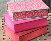 Handmade small jewellery box (approx. A4) with 4 different sized compartments, very suitable for young people. Dimensions 24x17x6cm