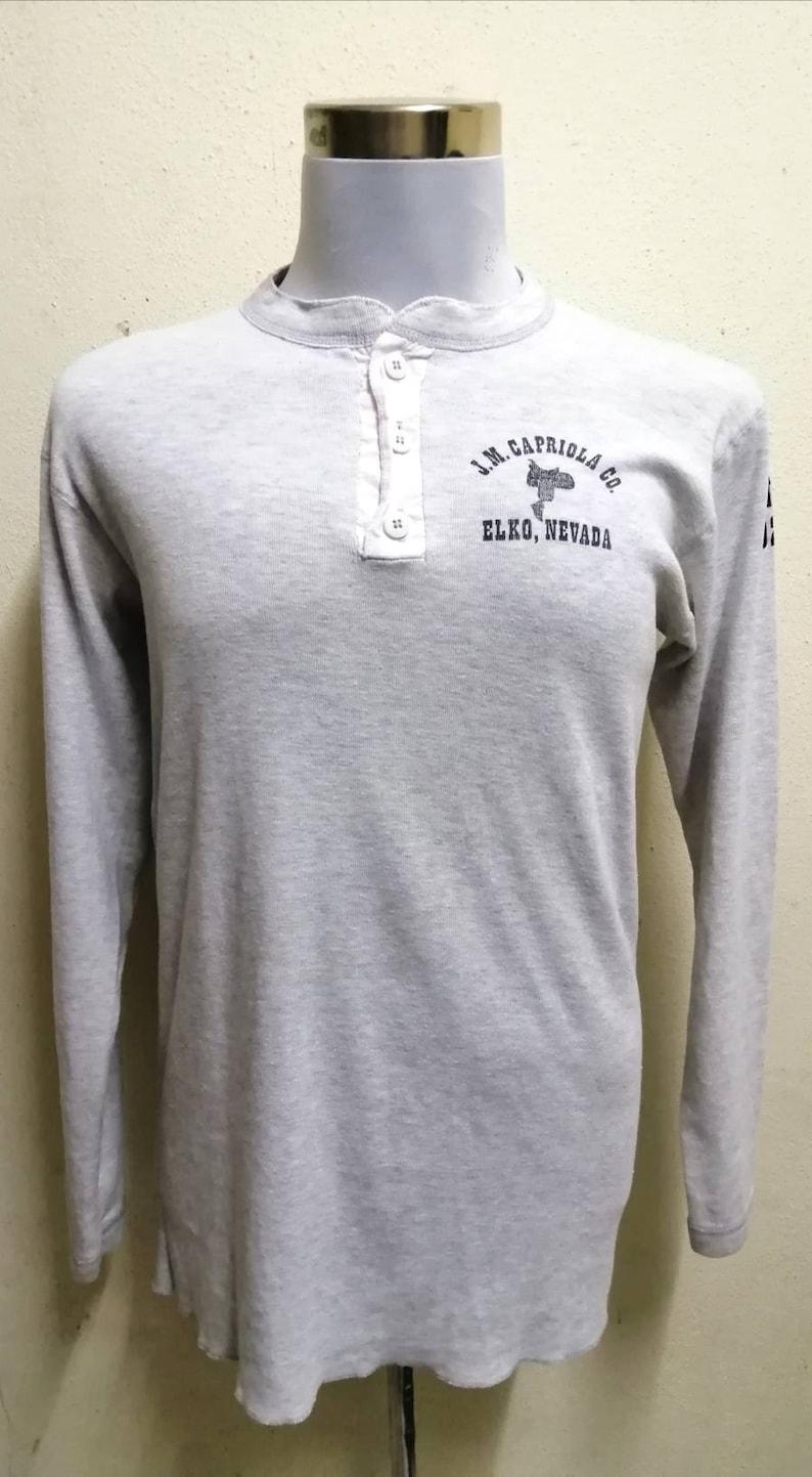 The Capriola Cowboy Vintage 80/'s Shirt Long Sleeve Big Print Cowboy Classic Very Rare Buckaroo Country SzXL