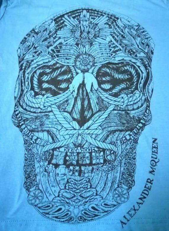 ALEXANDER MQUEEN Skull Vintage Shirt Big Logo Rare