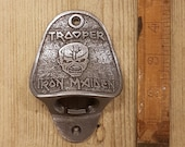 IRON MAIDEN TROOPER Cast Iron Wall Mounted Bottle Opener Bar Hotel Pub Antique Vintage gift Home Bar