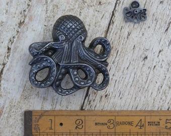 OCTOPUS \ KRAKEN \ Cast Iron \ Antique Style \ Knob \ Handle \ 75mm \ Upcycle \ Industrial \ OCT1