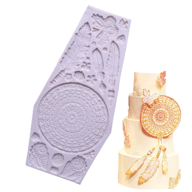 Dreamcatcher Silicone Mold Pendant Resin Mold Handmade Aromatherapy plaster Silicone Mold Craft decoration epoxy mold,Candle mold,GJ89