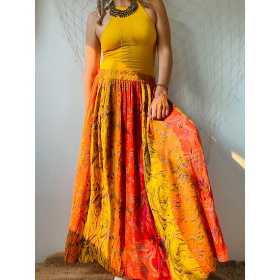 Vintage Gorgeous Abstract Maxi Skirt - image 5