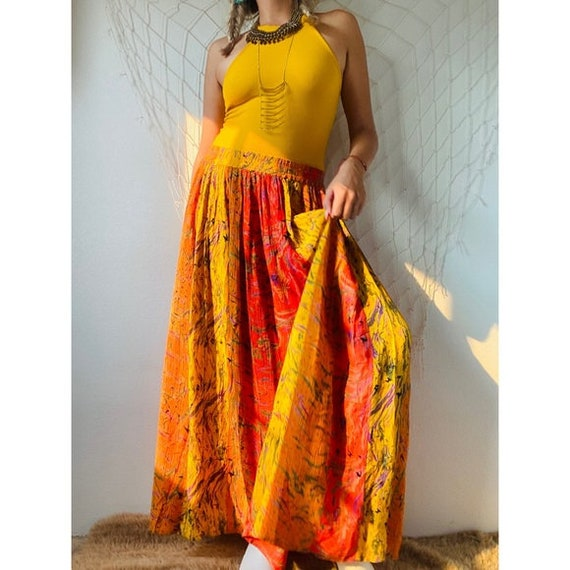 Vintage Gorgeous Abstract Maxi Skirt - image 3