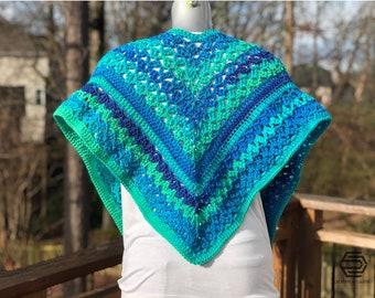 Crochet Wrap, Cascading Waterfall Wrap, Crochet Pattern, Instant Download
