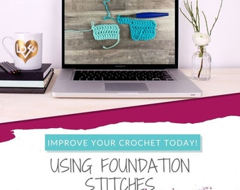 Five Uses for Crochet Foundation Stitches Ebook, instant download