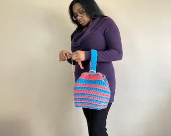 Swirl Box Project Bag, Crochet Project Bag, Wrist Project Bag, Instant Download