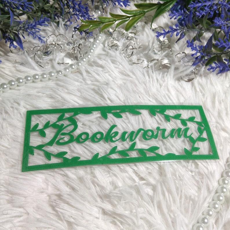 Bookworm Papercut Bookmark image 0