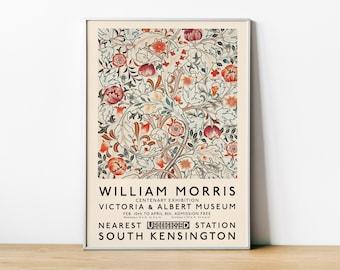 William Morris Fleurs et Plantes, Exhibition Poster, The Victoria and Albert Museum,Vintage Print, London Underground, 1934, Home Decor ART