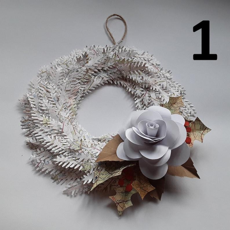 Handmade Christmas Paper Wreaths 1