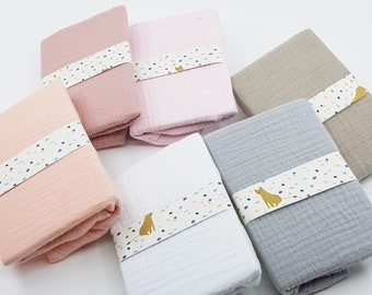 Drap cover couffin - Drap crib cover - Drap cover bed bed -Double cotton gauze - 9 colors